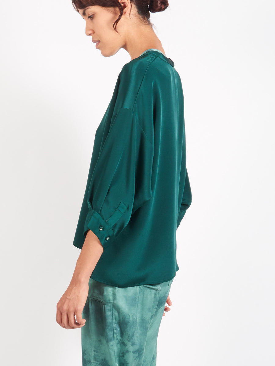 Forest Green Fond Blouse