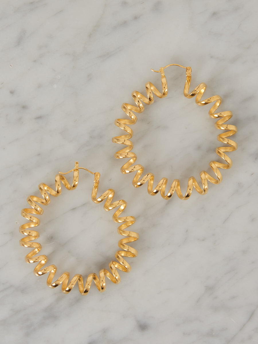 Gold Plate Avo Earrings