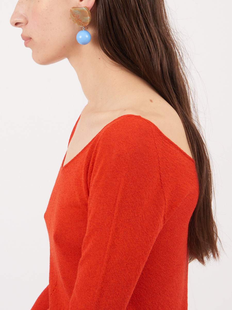 Rachel-Comey-Mustard-Marble-Blue-Hoon-Earrings