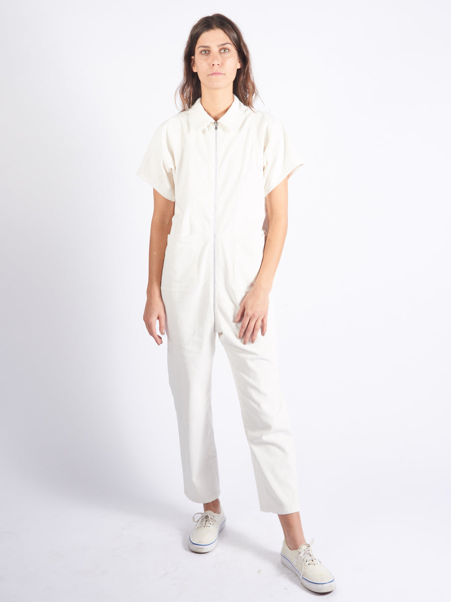 Off White Corduroy Barrie Jumpsuit