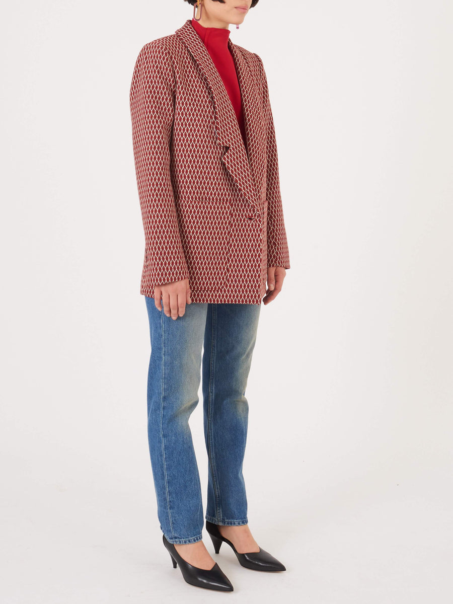 Rachel-Comey-Red-Multi-Loveless-Blazer-on-body