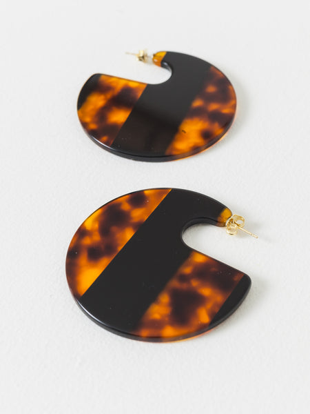 Striped Tortoise Camille Earrings
