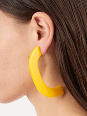 Rachel-Comey-Yellow-Handle-Earrings-on-body