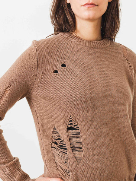 raquel-allegra-camel-perfect-crew-sweater-on-body