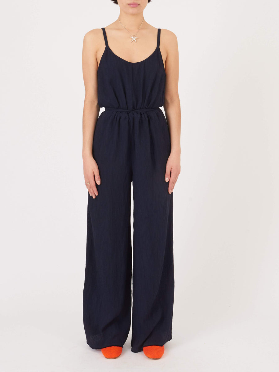 Raquel-Allegra-French-Navy-Bianca-Jumpsuit-on-body