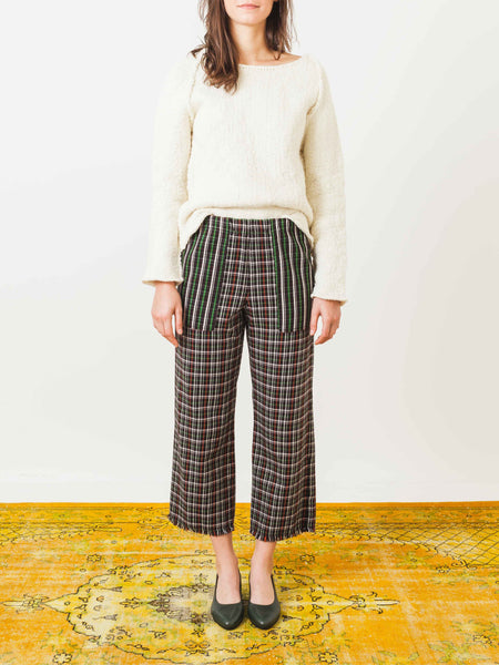 raquel-allegra-hunter-plaid-cropped-pants-on-body