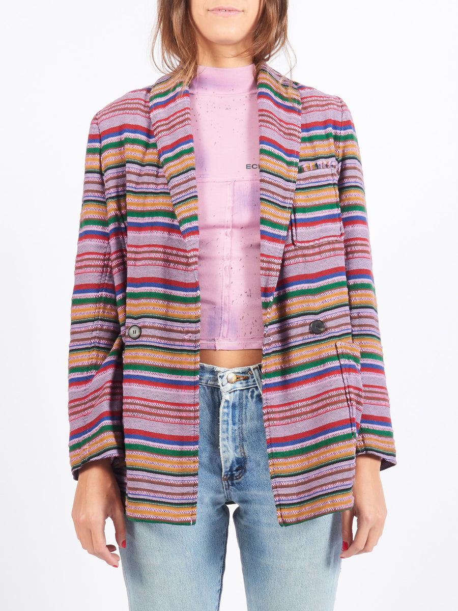 Lilac Stripe Country Blazer