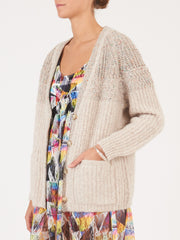 Raquel-Allegra-Oatmeal-Boxy-Cardigan-on-body