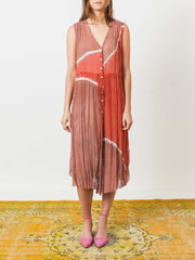 raquel-allegra-pink-sands-button-up-desert-dress-on-body