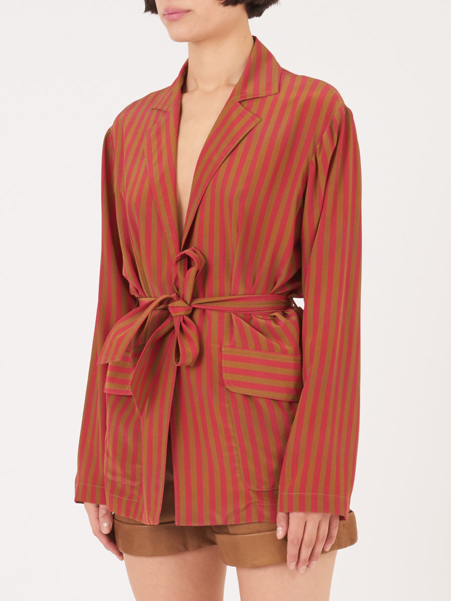 Raquel-Allegra-Red-Stripe-Mara-Blazer-on-body
