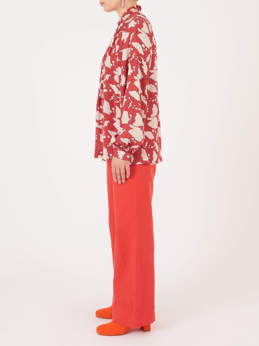 Raquel-Allegra-Red-Victorian-Ruffle-Blouse-on-body