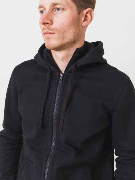 Black Heavy Weight Terry Full Zip