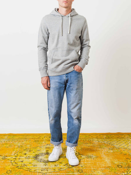 Heather Grey Midweight Terry Hoodie
