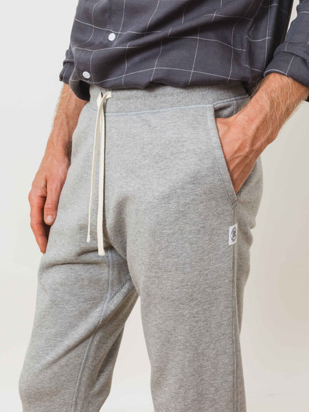 Heather Grey Midweight Terry Sweatpant