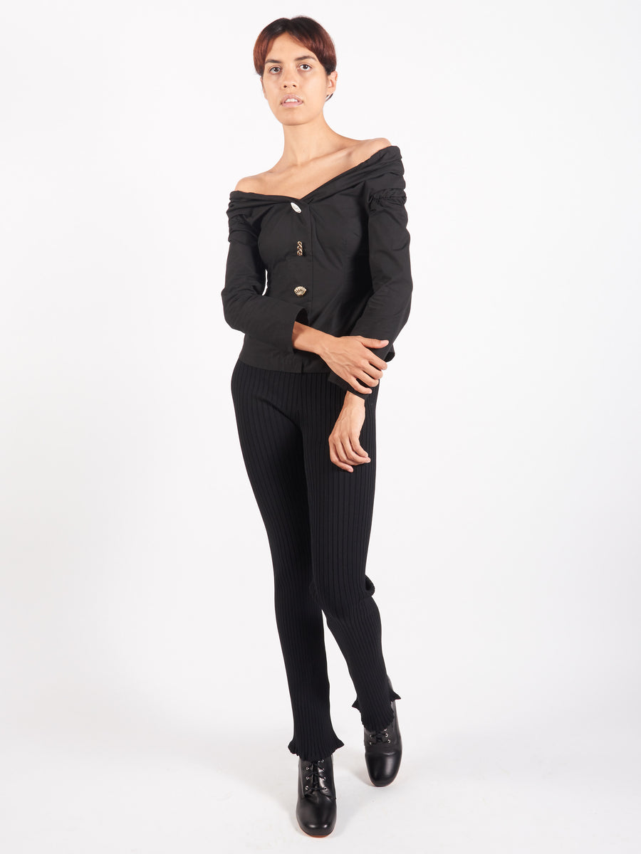 Black Miriam Blouse