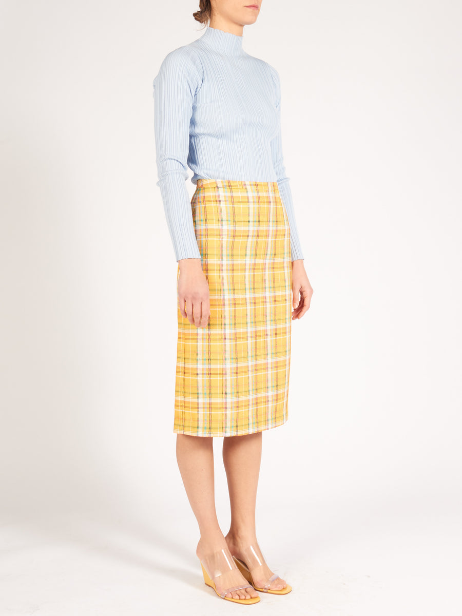 Yellow Check Blair Skirt