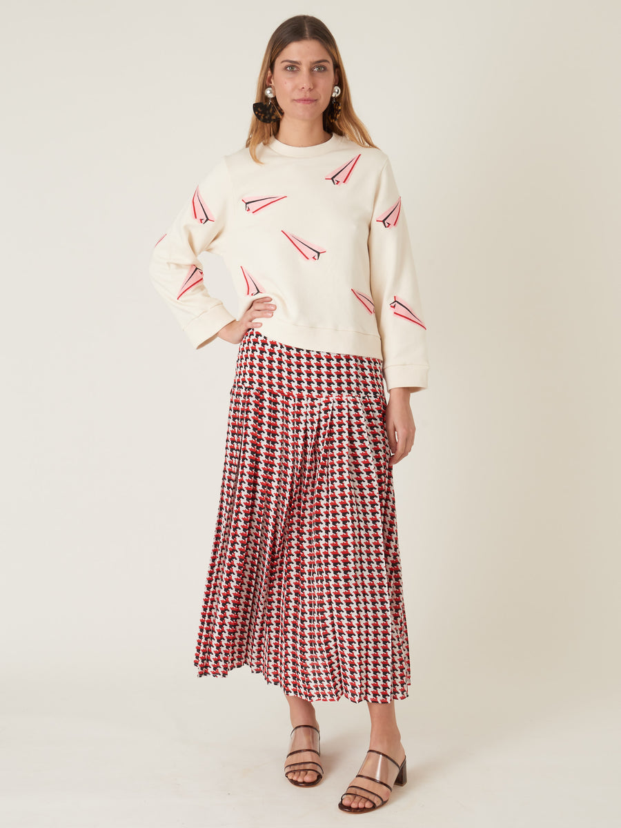 Rixo-Stripe-Houndstooth-Tina-Skirt-on-body
