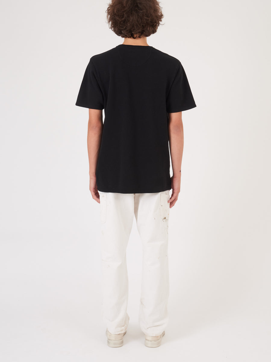 Saturdays-Black-Randall-Pique-S/S-Tee-on-body