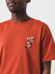 Saturdays-NYC-Brick-Poppy-S/S-Tee-on-body