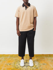 Saturdays-NYC-British-Khaki-Jake-Velour-S/S-Tee-on-body