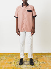 Saturdays-NYC-Dusty-Rose-Mateo-Modal-S/S-Shirt-on-body
