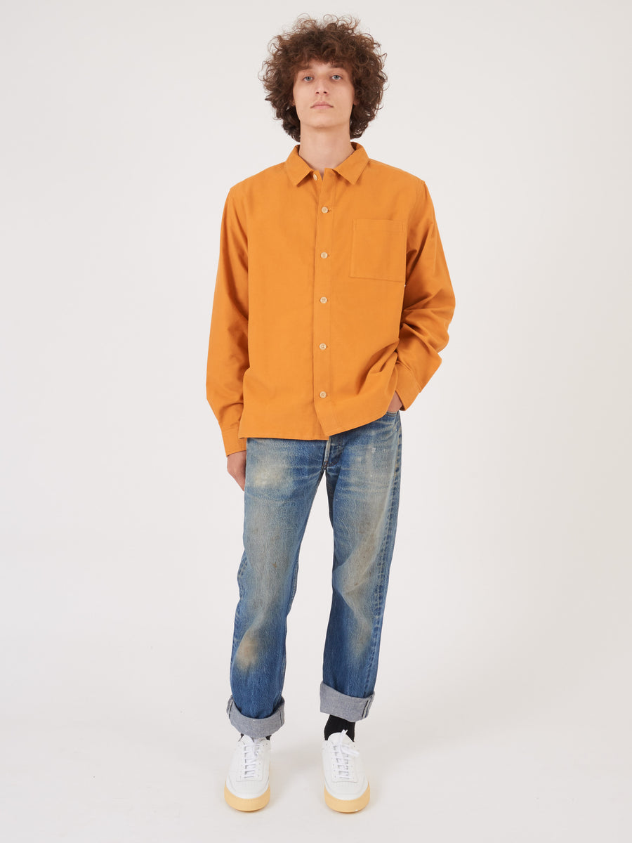 Saturdays-Saffron-Alessandro-L/S-Shirt-on-body