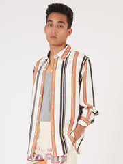 Saturdays-White-Perry-Multi-Stripe-L/S-Shirt-on-body