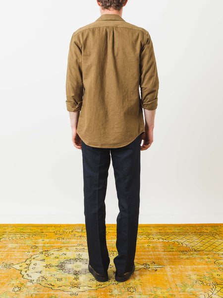 schnayderman's-desert-brown-leisure-notch-shirt-on-body