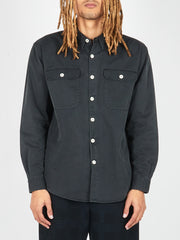 Washed Black Indigo Summer Denim Boxy Shirt