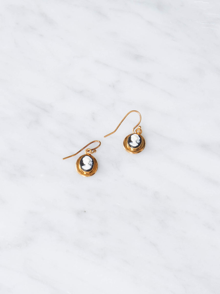 Sophie-Buhai-Gold-Petite-Cameo-Earrings