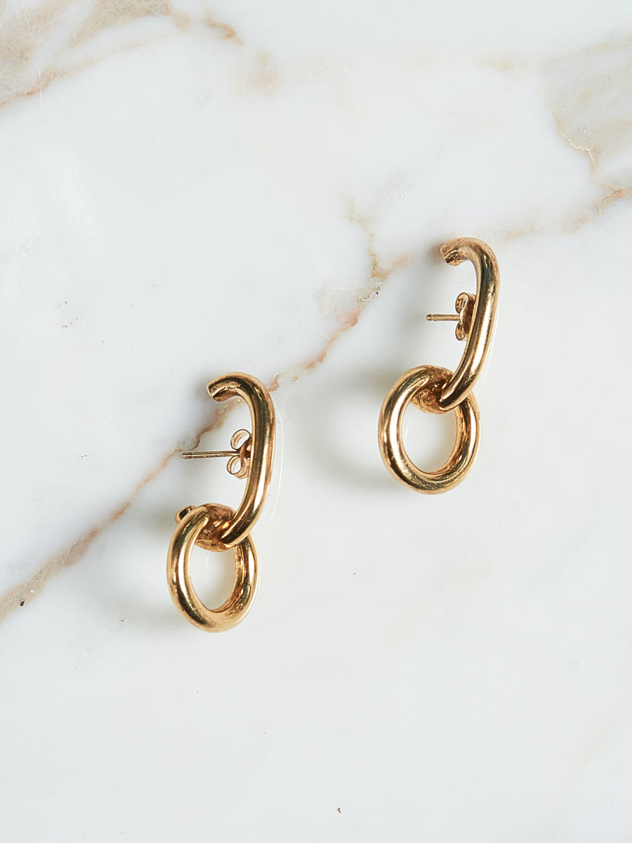 Gold Lobe Earrings