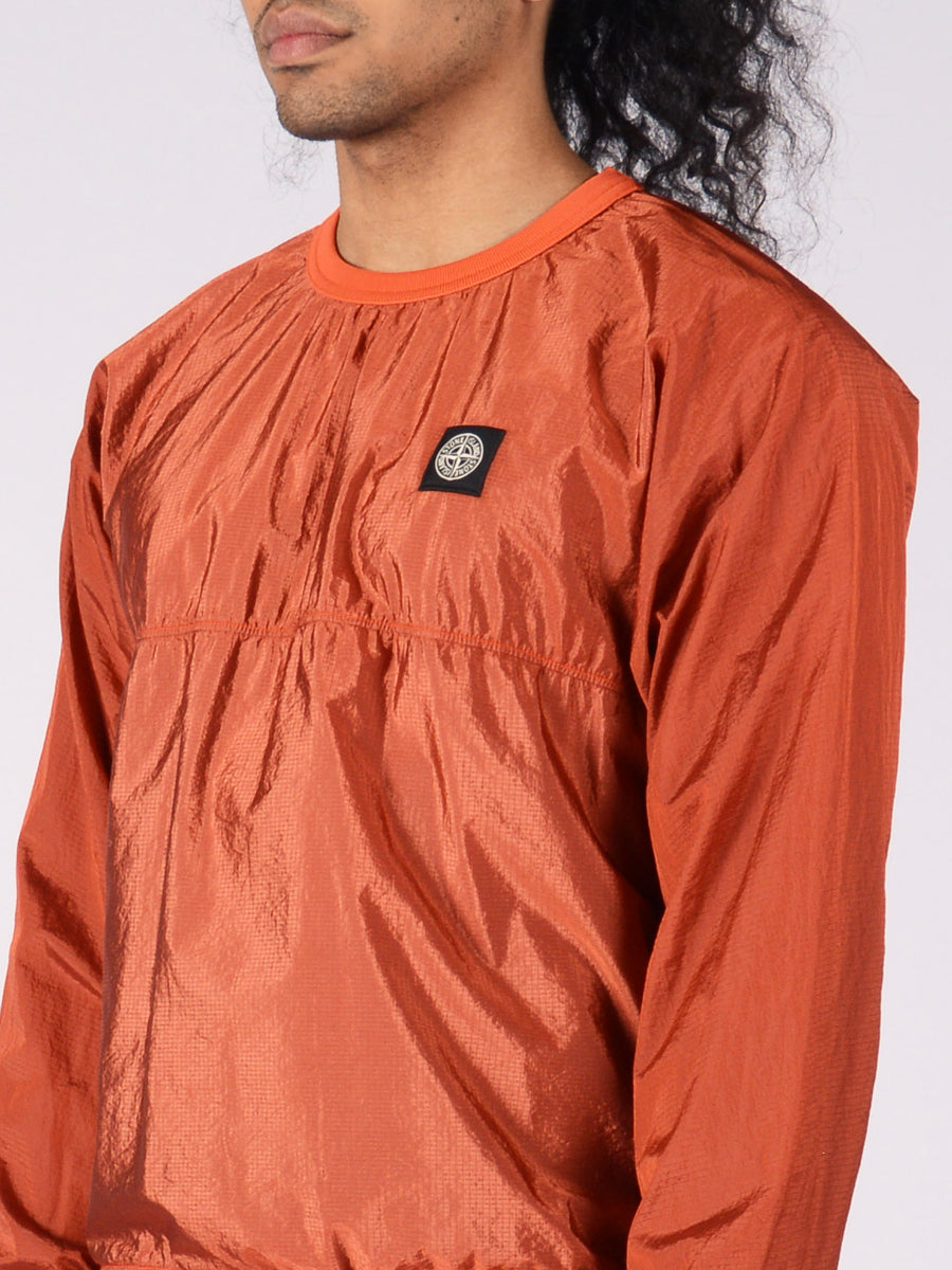 Stone-Island-Aragosta-L/S-Nylon-Metal-Pullover-on-body
