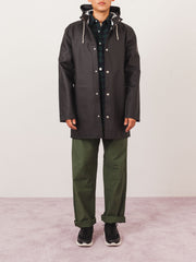 Stutterheim-Black-Stockholm-Raincoat-on-body