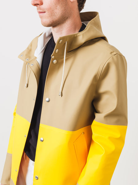 Large Stripe Sand Stockholm Raincoat