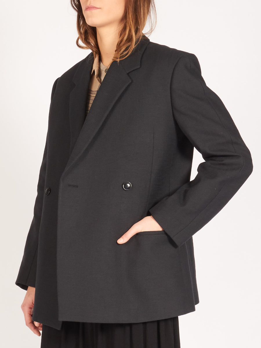 Totême-Black-Loreo-Blazer-on-body