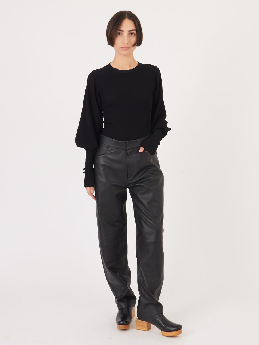 Totême-Black-Vignola-Knit-on-body