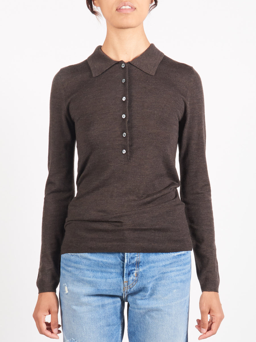 Dark Brown Melange Millana Polo