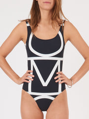 Totême-Negative-Monogram-Positano-Swimsuit-on-body