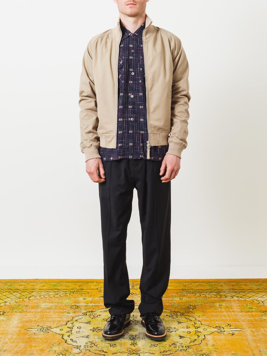 tres-bien-dark-sand-harrington-jacket-on-body