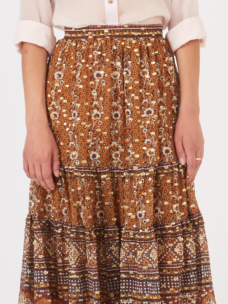 Ulla-Johnson-Ochre-Thea-Skirt-on-body
