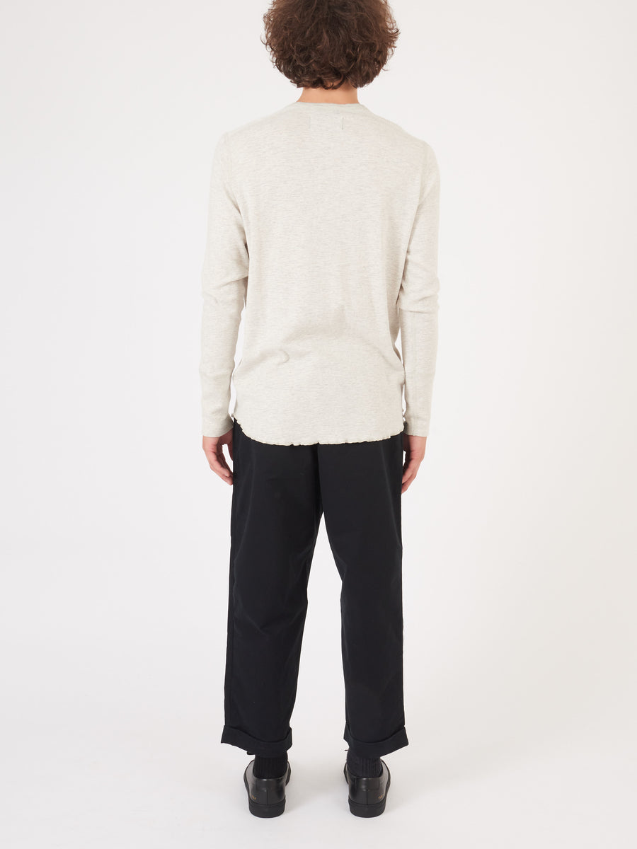 Wings + Horns-Ash-1X1-Slub-Long-Sleeve-Henley-on-body