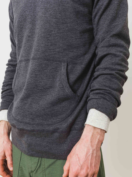 Heather Charcoal Slub Hooded Pullover
