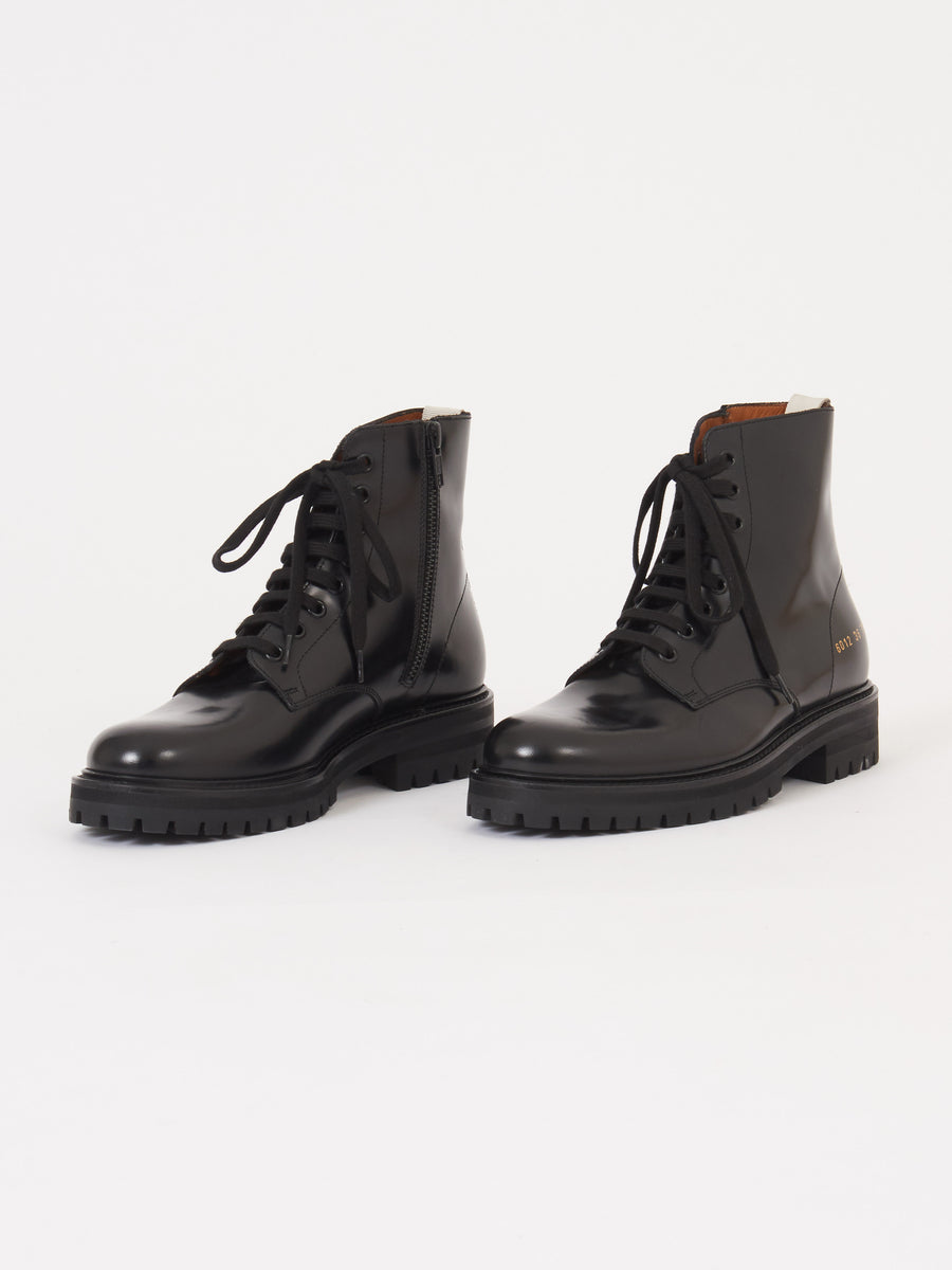 Common-Projects-Black-Combat-Boot-w/Lug-Sole