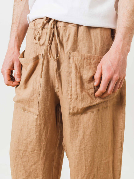 Sand Wide Leg Catch All Trousers