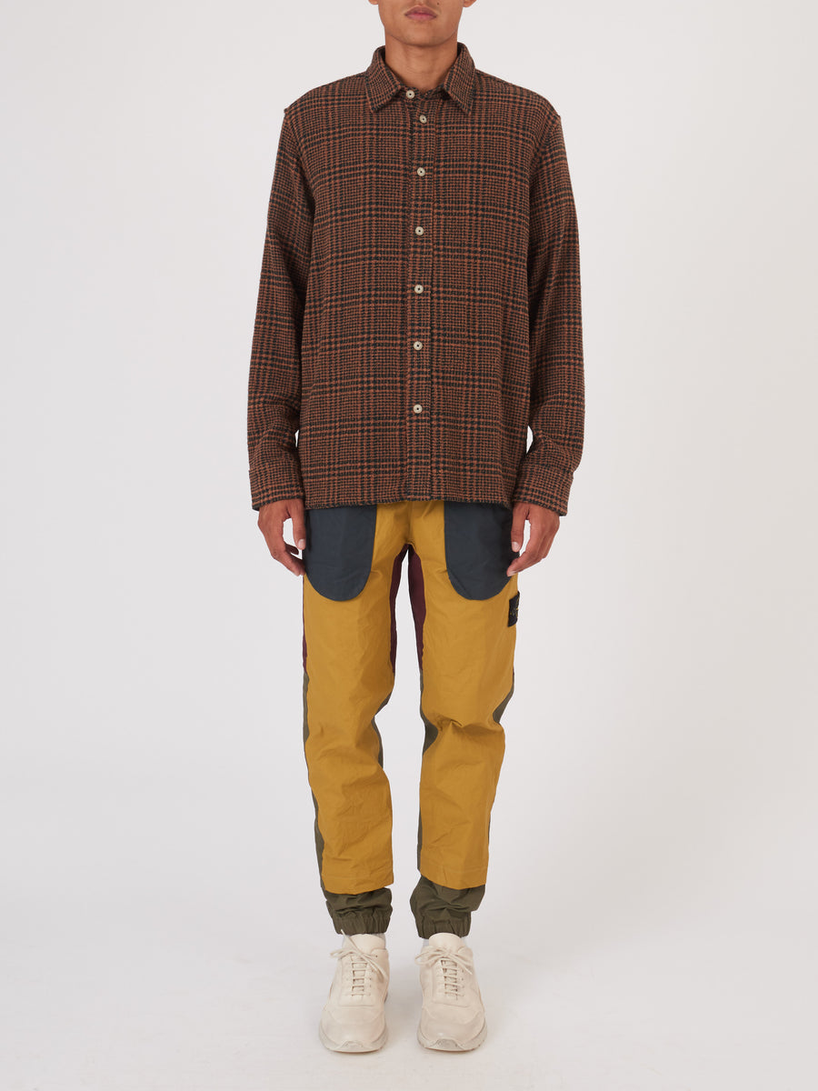 a-kind-of-guise-Brown-Check-Dullu-Overshirt-on-body