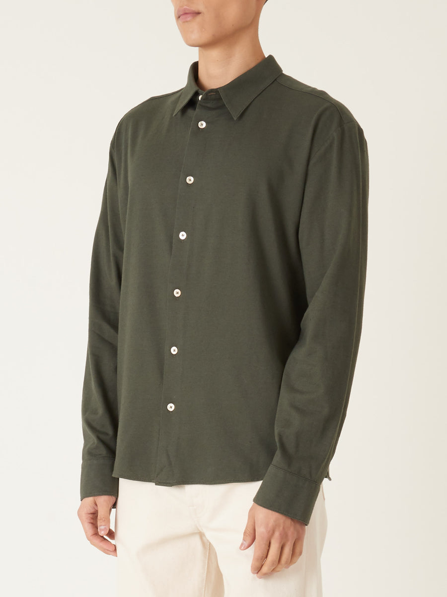 a-kind-of-guise-Dark-Green-Flores-Shirt-on-body
