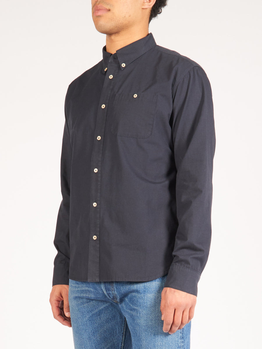 a-kind-of-guise-Washed-Navy-Permanents-Button-Down