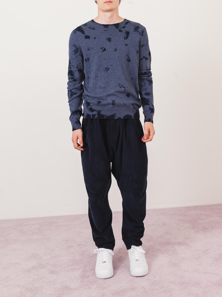 a.p.c.-Blue-Tie-Dyed-Sweater-on-body