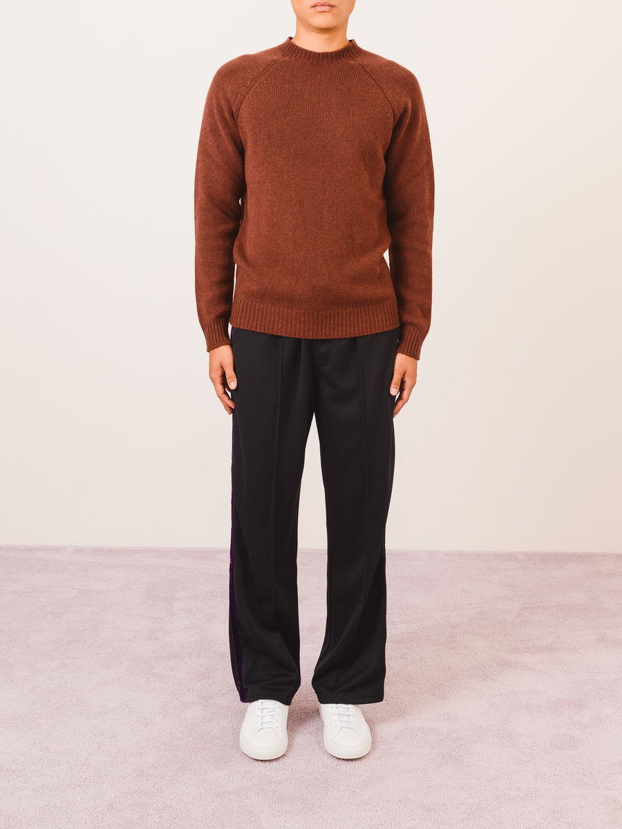 a.p.c.-Brown-Claudio-Sweater-on-body