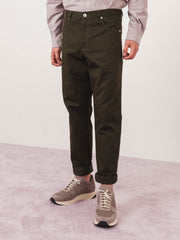 a.p.c.-Military-Khaki-Baggy-Jeans-on-body